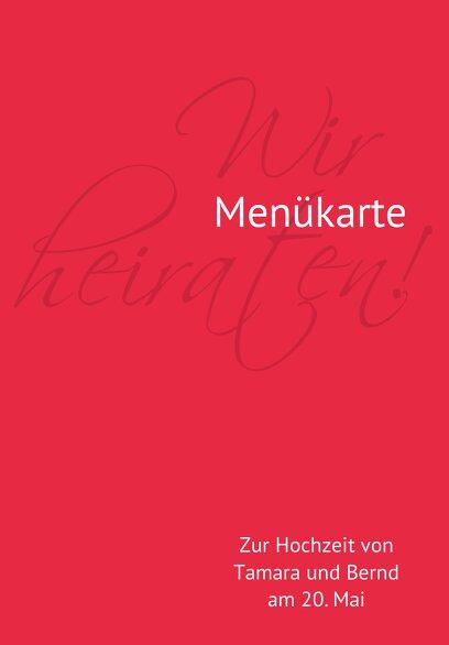 Ansicht 3 - Hochzeit Menükarte Liebesbrief