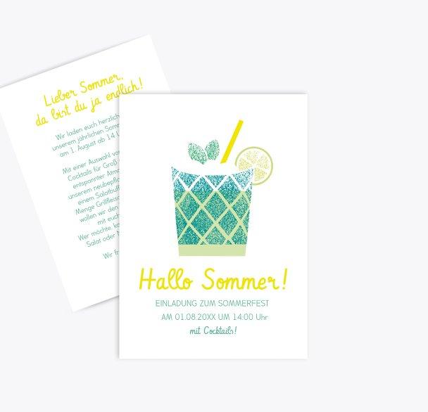 Einladung Sommerfest Cocktail