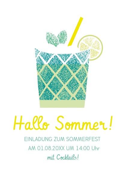 Ansicht 2 - Einladung Sommerfest Cocktail