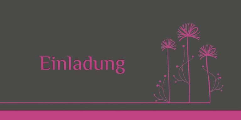 Ansicht 3 - Einladungskarte Blume abstrakt Foto