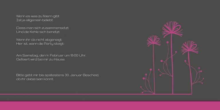 Ansicht 5 - Einladungskarte Blume abstrakt Foto