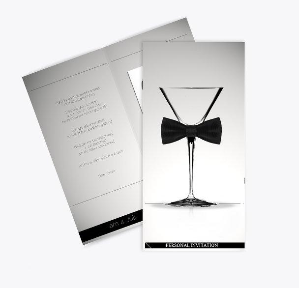 Einladungskarte gentleman