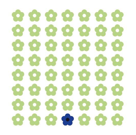Ansicht 2 - Tauf Dankeskarte Blumentapete