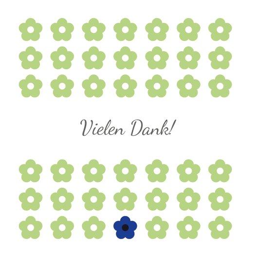 Ansicht 4 - Tauf Dankeskarte Blumentapete