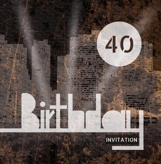 Ansicht 3 - Geburtstagskarte City Lights 40
