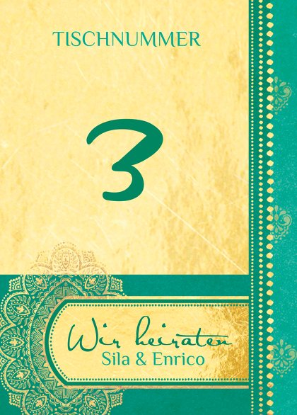 Ansicht 2 - Tischnummer Mumbai