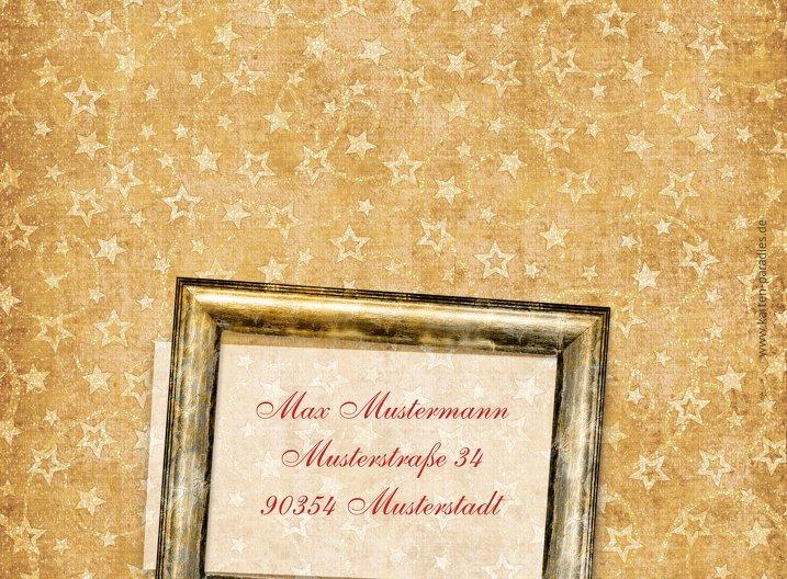 Ansicht 3 - Grußkarte Weihnachten Foto Goldenes Geschenk