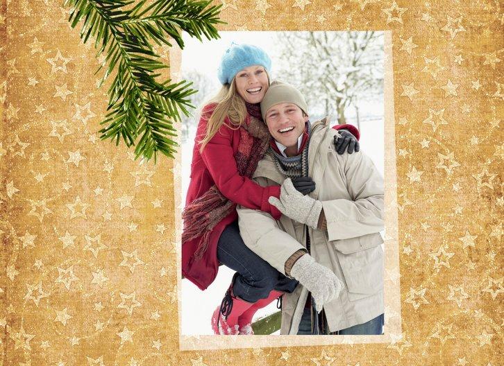 Ansicht 7 - Grußkarte Weihnachten Foto Goldenes Geschenk