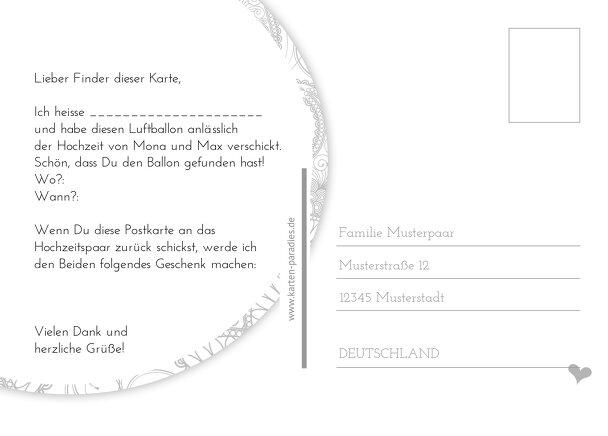 Ansicht 3 - Hochzeit Ballonkarte Traumhochzeit