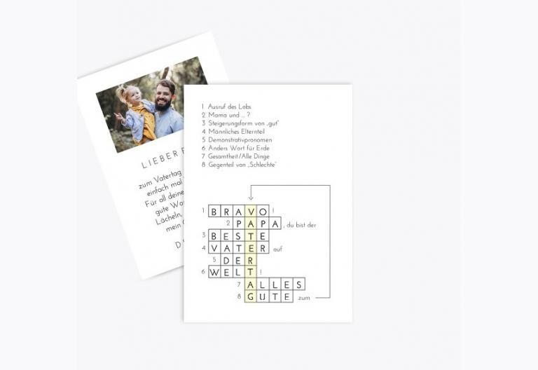 Vatertagskarte Kreuzworträtsel