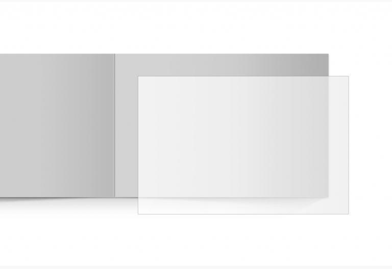 transparentes Einlegeblatt 170 x 114 mm