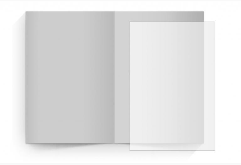 transparentes Einlegeblatt 114 x 170 mm
