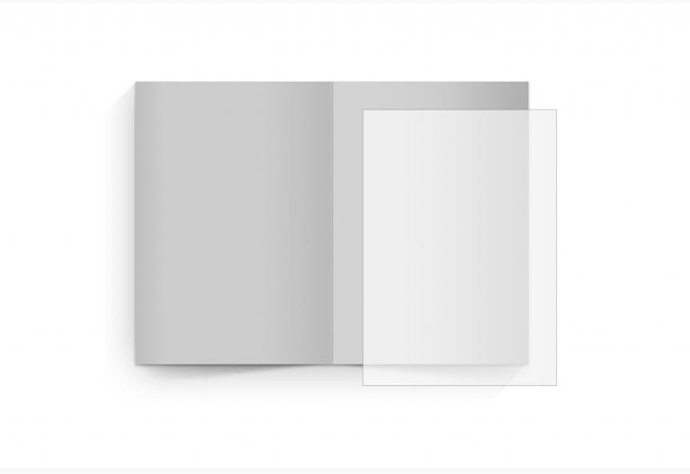 transparentes Einlegeblatt 74 x 105 mm