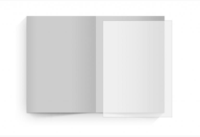 transparentes Einlegeblatt 105 x 148 mm