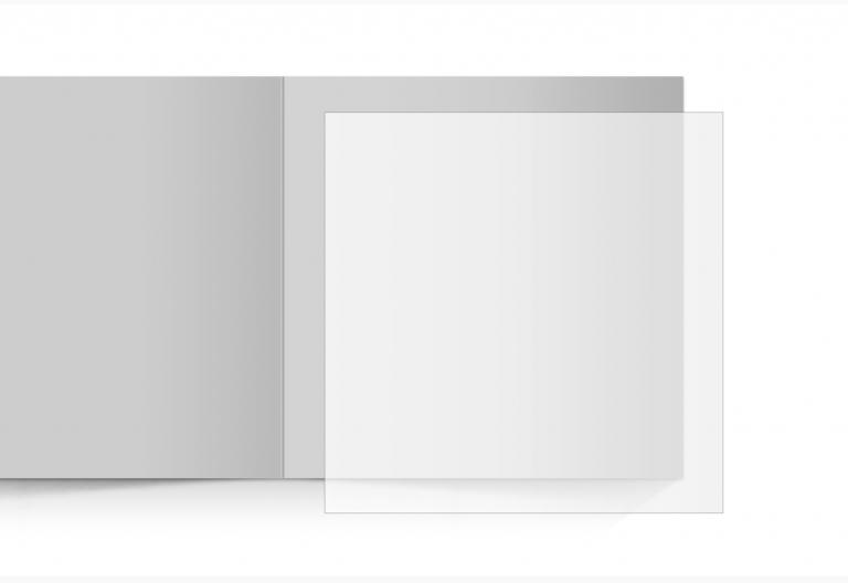 transparentes Einlegeblatt 145 x 145 mm