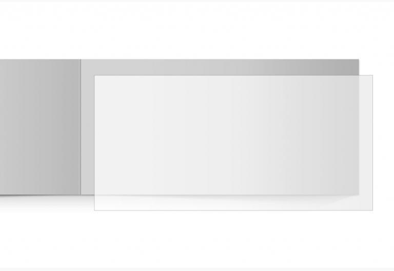 transparentes Einlegeblatt 215 x 105 mm