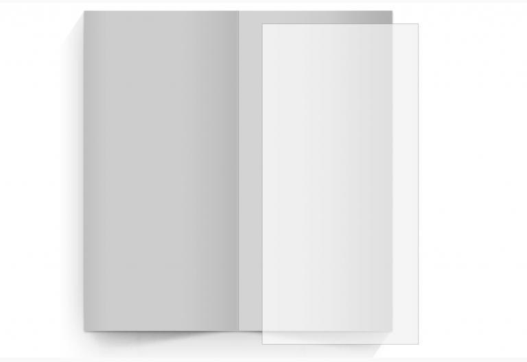 transparentes Einlegeblatt 105 x 215 mm