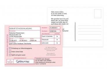 geburtstagseinladungen: einladungskarten zum geburtstag, Einladung