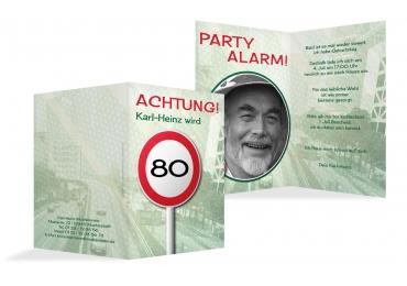 einladungskarten zum 80. geburtstag | karten-paradies.de, Einladung