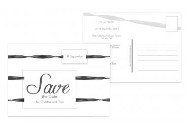Save-the-Date loop label Weiß 148x105mm