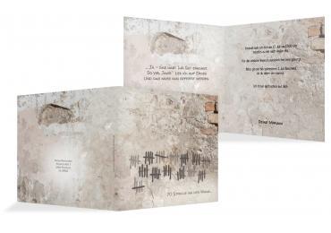 Einladung Striche An Der Wand 70 DunkelgrauBraun 145x145mm
