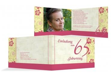Karte Zum Geburtstag Hibiskus 65 Foto Pinkrosa 148x105mm