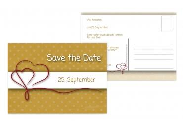 Save-the-Date Gepunktet OckerGelb 148x105mm