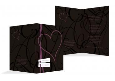 Hochzeit Einladung Band PinkLeuchtend 105x148mm