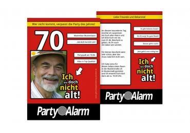 einladungen zum 70. geburtstag| karten-paradies.de, Einladungskarten