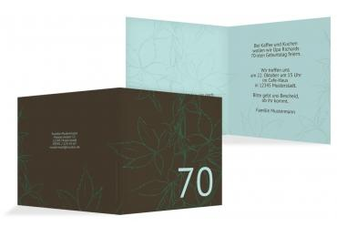 Einladung Herbst 70 Hellgrünblau 145x145mm
