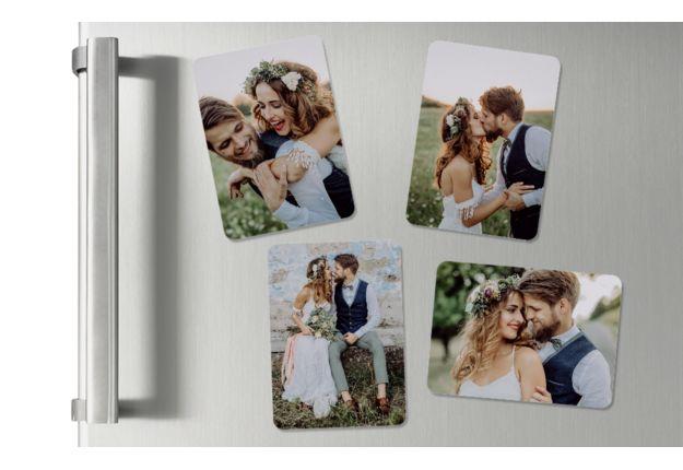 Ansicht 2 - Hochzeits-Magnete mit Bildern