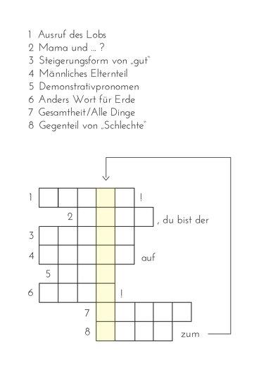 Ansicht 3 - Vatertagskarte Kreuzworträtsel