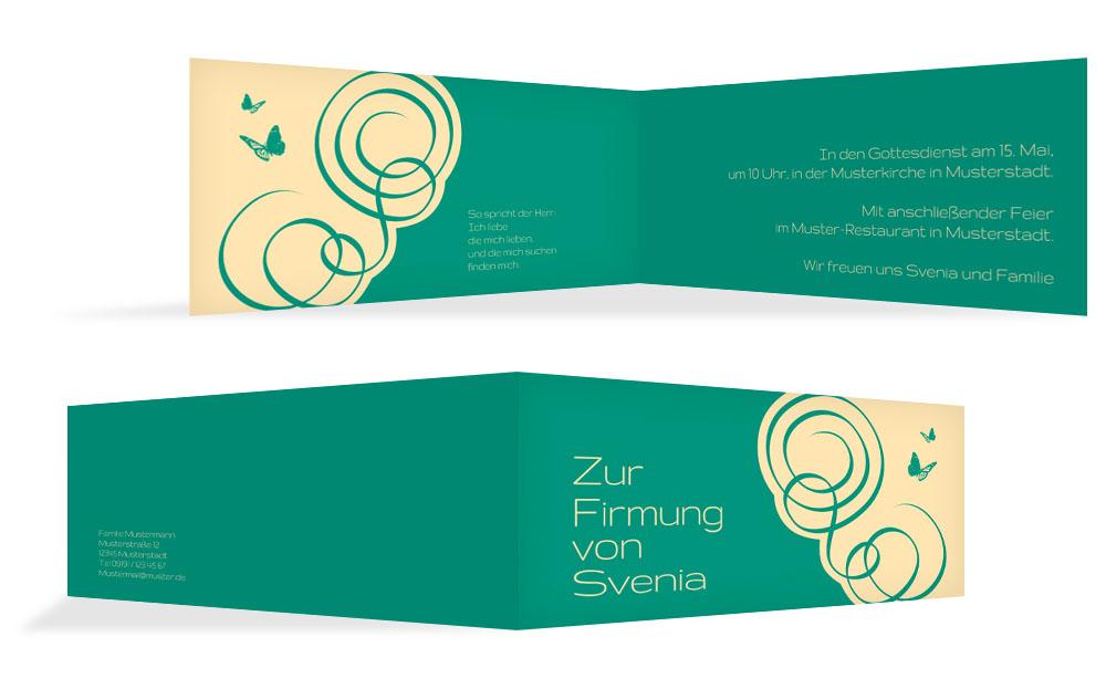 familieneinladung zur firmung auf> karten-paradies.de, Einladung