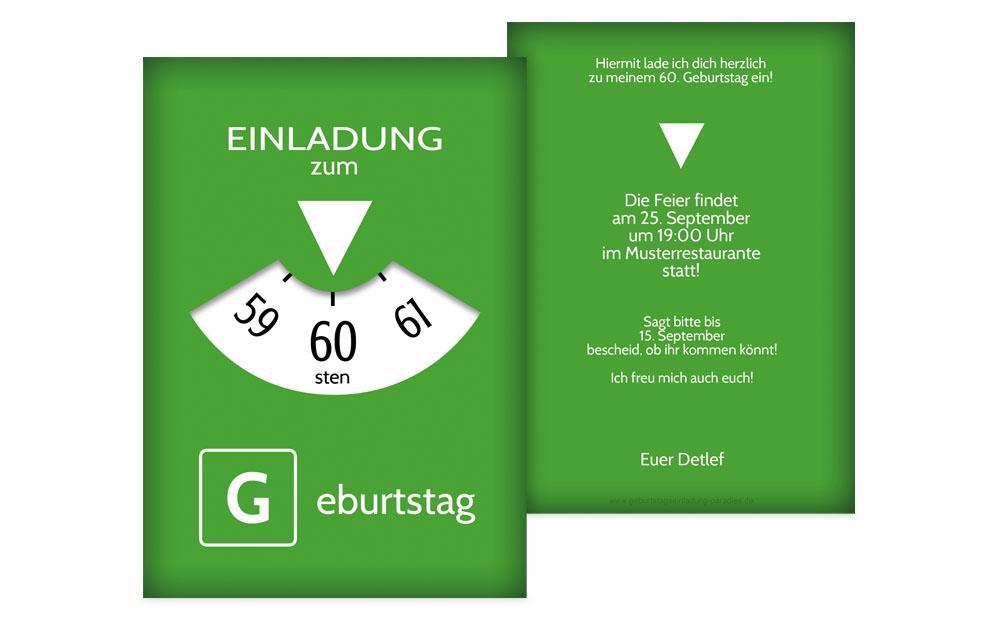 einladungen zum 60. geburtstag | karten-paradies.de, Einladung