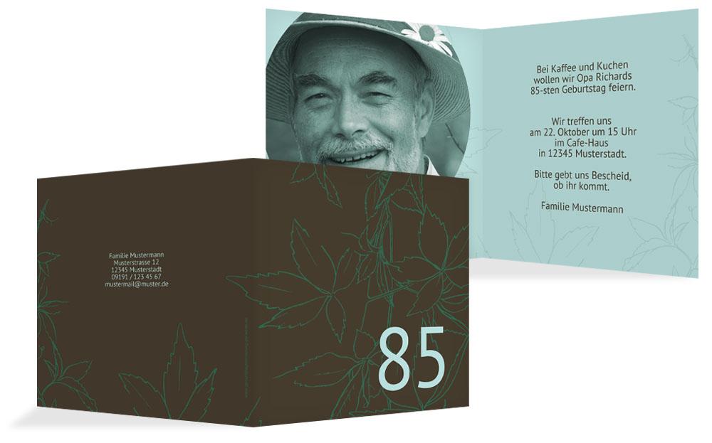 einladungskarten zum 85. geburtstag | karten-paradies.de, Einladungsentwurf