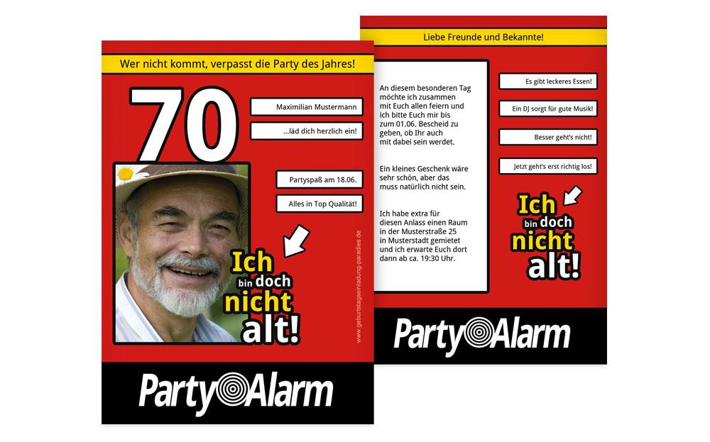einladungen zum 70. geburtstag| karten-paradies.de, Einladungsentwurf